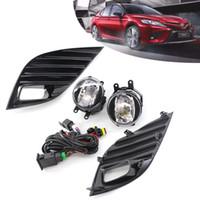 Car OEM Style lampe directement remplacement antibrouillards w / ampoule + Commutateur + fil + Bezel / 1Régler pour Toyota Camry 2018-2019 style