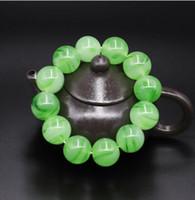 Red Natural de los granos del jade pulsera de ágata brazalete elástico del encanto de la joyería Accesorios de Moda tallado a mano mujer de mala suerte Amuleto regalo