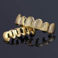 Gold Silver Grillz Street Fashion Punk Vampire Teeth Braces ...