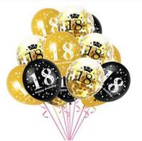 15pcs 12 pouces heureux ballons d'anniversaire d'anniversaire décorations de fête Ballon Air New Photographie Décoration de haute qualité Balles Air Vente chaude