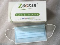 máscaras ZOGEAR Top segura mascarilla desechable 50pcs Pack 3-PLY Earloop altos mascarillas cualificado envío libre de DHL