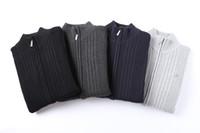 Lacoste lacoste Herren-Designerkrokodil Stickerei Pullover mit langen Ärmeln Pullover Mode Strickwaren losen Reißverschluss CM5 Mode