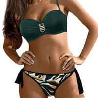Mulheres Biquíni Conjunto de Cintura Alta Swimsuit Swimwear Beachwear Fato De Banho Biquinis Feminino 2019 Sexy Bikini Set