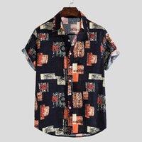 남성 캐주얼 셔츠 여름 남성 짧은 소매 버튼 다운 셔츠 남성 슬림 피트니스 코튼 옷 플러스 사이즈 5XL