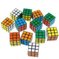 3x3x3cmミニサイズパズルキューブマジックキューブフィジットおもちゃパズルゲーム子供の諜報教育玩具
