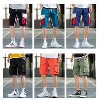 Инструменты американского фондового Мужские шорты свободного покроя шорты короткая брюки на открытом воздухе спорт бег длина до колена лето открытый карманы мода мужчины шорты FY9110