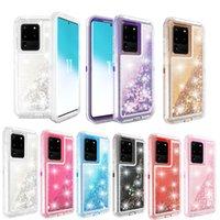 Pour Samsung S20 luxe bling liquide Quicksand hybride de cas pour Samsung S10 5G S10E S20 Ultra Plus Note 9 S9 Note 10 Pro
