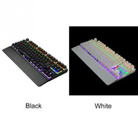 Tastiera da gioco meccanica K28 87 tasti Interruttore blu Illumina la retroilluminazione Tastiera LED anti-ghosting retroilluminata Wrist Pro Gamer