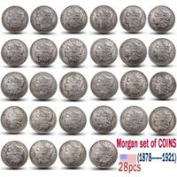 لنا مورغان COINS 1878-1921 مجموعة كاملة من 28PCS نسخة عملة