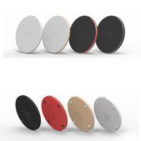 Mini Kablosuz Hızlı Şarj Pad QI 10W Güç Hızlı bütün QI Cihaz Metal Pad ile LED Işık için Iphone Xs İçin Huawe Mate20 Smooth Şarj