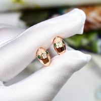 Boucles d'oreilles boucles d'oreilles en forme de serpent 18k Boucles d'oreilles plaquées or rose pour femmes