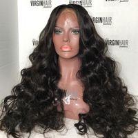 흑인 여성용 10A 인간의 머리 가발 BRAZILAIN 페루 큰 BODSWAVE LOOSEWAVE 전체 레이스 가발 및 레이스 프런트 가발