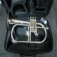 العلامة التجارية الجديدة bb flugelhorn الفضة مطلي الأصفر النحاس الجرس الشعبية الموسيقية مع حالة المعبرة شحن مجاني