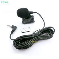 سيارة الصوت الميكروفون 3.5 ملليمتر جاك التوصيل ميكروفون ستيريو البسيطة السلكية ميكروفون خارجي ل auto dvd راديو 3 متر longProfessionals سيارة aud (hl)