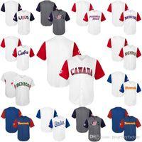 2017 Clásico Mundial de béisbol de los hombres Puerto Rico Canadá Dominicana Americ ltalia Venesuela México Cuba CMB camisetas de béisbol