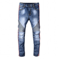 2019 New Men' s Skinny jeans Distressed Ripped Biker Jea...