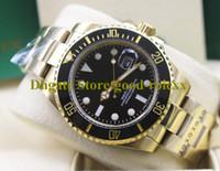 3 couleurs Mens de luxe Montre automatique Hommes Blue Black Céramique Bezel Dial Dive Couronne Montres lumineuses Jaune Gold Sport 116618 Montres-bracelets