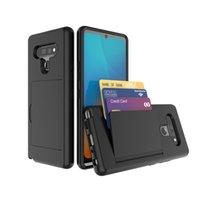 Para stylo 6 K51 caso de TPU PC 3 en 1 Mobile Holder Tarjeta de caja del teléfono para LG k51 caja del teléfono B