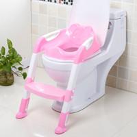 Asiento de inodoro orinal bebé portátiles entrenamiento insignificante del bebé del asiento para niños Con La Escala ajustable infantil del asiento de tocador Formación plegable