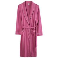 المرأة النوم بسيطة لون نقي مشروط القطن رداء للنوم زائد الحجم m-xxxl المرأة الربيع ثوب النوم صاحبة البشكير مثير pijamas fem