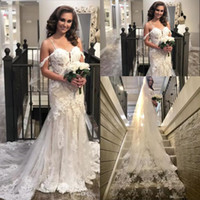 2019 Gorgeous Lace Wedding Dresses Spaghetti Straps Applique...
