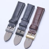 Bracelet de montre en cuir véritable brun noir bleu avec bracelets de montre pour bracelet Breitling homme 22 mm avec outils
