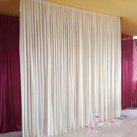 موضة جديدة 3 متر * 3 متر خلفية للحزب الستار مهرجان الاحتفال الزفاف المرحلة الأداء خلفية ثنى الستارة جدار valcloth