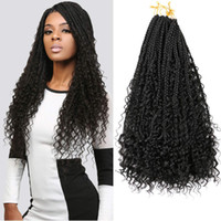 Mtmei Hair 22Inch 12 Roots Goddess Box Braids Crochet Hair W...