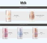 Sıcak Satış Süt Makyaj Holografik Çubuk İşaretleyiciler Glow Sticker Tam Boy Aydınlık Bulanıklık Mat Astar Vakfı 28G DHL Shiping Sticks
