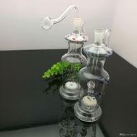 Europäische und amerikanische populäre Farbe gepunktete Vase Glas Zigarette Kessel Großhandel Glaswasserpfeifen Tabak Zubehör Glas Aschfänger