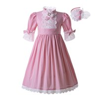 Pettigirl Lace Pink Solid Color Princess Wedding Party Kids ...