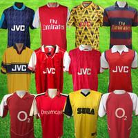 هنري 2000 2002 ريترو لكرة القدم جيرسيز هايبري 1998 1999 بيرجكامب 94 95 96 97 Tierney Red Camiseta Futbol 07 08 Adams Shirt