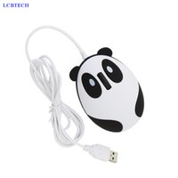 2019 New Cartoon Panda Wired Mouse Optical Cable Mini Office 1600 DPI con interfaccia USB per mouse PC portatile per ufficio PC