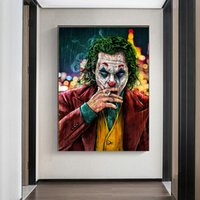 Movie Star The Joker Oil Canvas Painting Prints Joke Comic A...