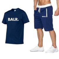 Designer BALR men's T-shirt + shorts suit summer short-sleeved sportswear gym casual men's T-shirt 2 pieces brand clothing size M-2XL