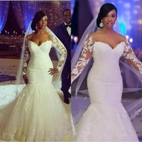 African Plus Size Wedding Dresses 2019 Off The Shoulder Long...