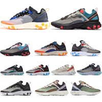 Nike Air Max 87 airmax UNDERCOVER X React Element 87 55 Triples Black Fashion NIK Herren 87s Schuhe Damen Designer Schuhe Herren Trainer Segel Light Bone Sneakers 55s