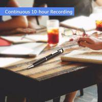 MP3 fonksiyonlu Taşınabilir Kalem şeklindeki Sürekli 10 saat Dijital Ses Kayıt 192 Kbps Tek düğme U DİSK Ses Kaydedici