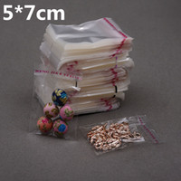 1000pcs 5*7cm Clear Transparent Self Adhesive Resealable Opp...