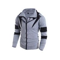 Sudaderas con capucha para hombres Otoño / suéter de invierno Color de la moda con cremallera doble con capucha Slim Cardigan Sudadera con capucha