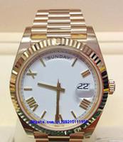 10 estilo 01 relojes para hombre 228238228239228235 Mecánico Automático 40 mm Oro amarillo 18 quilates Oro blanco PRESIDENTE Movimiento de esfera romana 2813