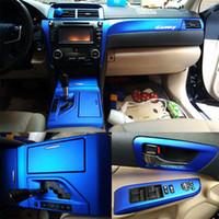 Für Toyota Camry XV50 2012-2016 Innenraum Central Control Panel Türgriff 5Dcarbon Faseraufkleber Aufkleber Auto Styling Accessorie