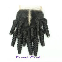 C Big Sale !Brazilian Virgin Mix Texture Human Hair Cheap 4x4 Top Lace Closures Pieces With Bleached Knots Free Middle Three Part Stock