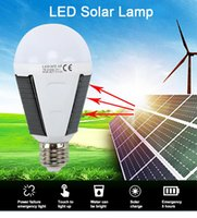 Портативные наружные аварийные огни висит фонарик IP65 светодиодный солнечный энергетический ламп E27 220V аккумуляторная лампочка для кемпинга