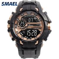 Montres de montre numérique Montres Sport Smael Smael Smael Relogio Montre Choc noir Big Clock Hommes Automatique 1610 Hommes WTACH Militaire