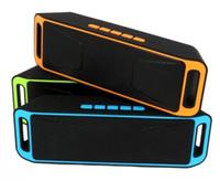 SC208 미니 휴대용 블루투스 스피커 무선 큰 소리로 음악 플레이어 큰 힘 서브 우퍼 지원 TF USB FM 라디오 DHL FEDEX