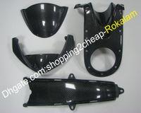 Действительно углеродного волокна 4 шт Body Fairing для Ducati Monster 696 1100 796 795 1100S Мотоцикл Aftermarket Kit Parts