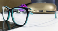 جديد مصمم أزياء النظارات الطبية البصرية 0372 إطار عين القط نظارات نمط شعبية ذات جودة عالية الساخن بيع العدسات شفافة واضحة