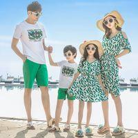 лето семья смотреть мать дочь соответствующие платья мама и я одежда мама мама девушка платье папа сын наряды семья одежда наборы