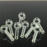 2.3inches conduites d'eau du brûleur à huile en verre Pyrex épais claires pour plates-formes pétrolières bangs en verre épais de grands bols pour fumer